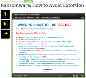 ransomeware reactive